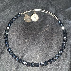 Small black beaded Alex and ani bracelet